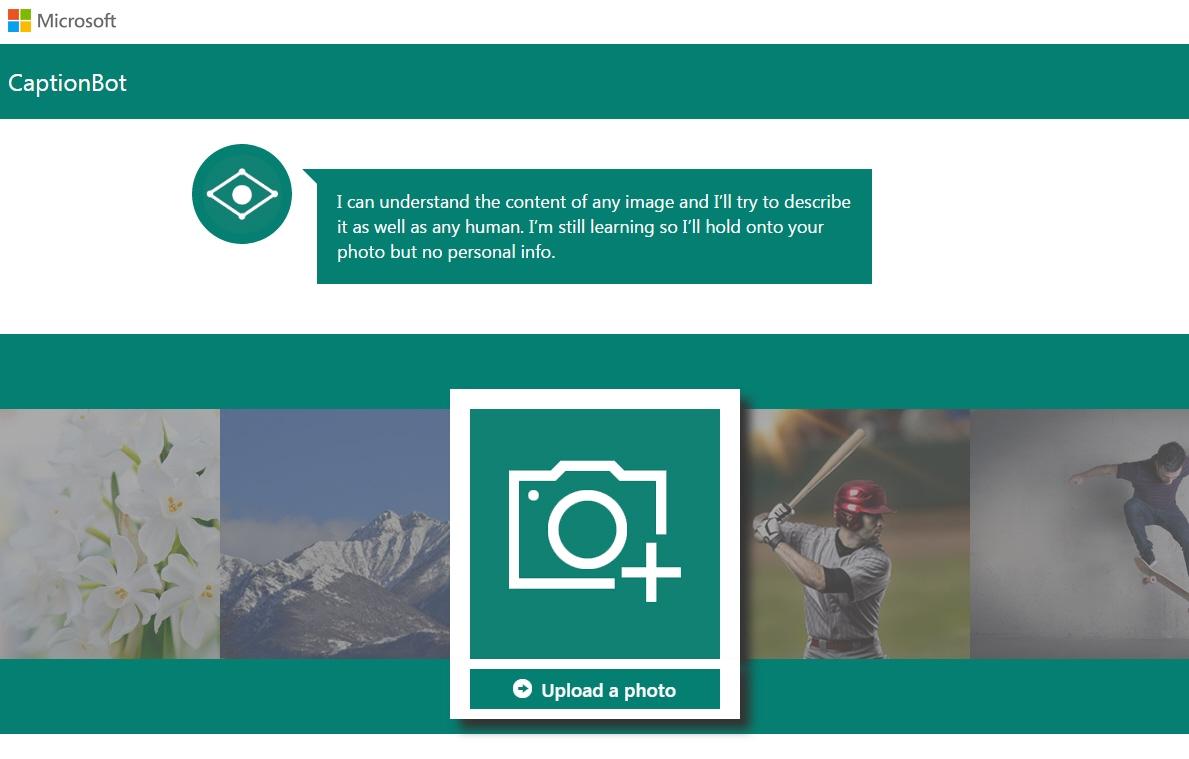 Microsoft Bilderkennung: Captionbot