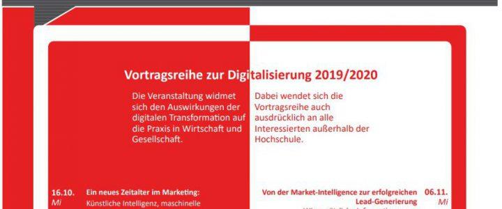 Zum fünften Mal: Vortragsreihe zur Digitalisierung der Hochschule Hof